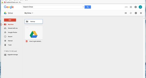 Change Google Drive folder default location