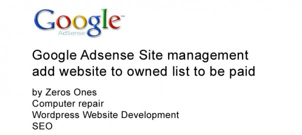 AdSense Site Management add Website Owned Site List