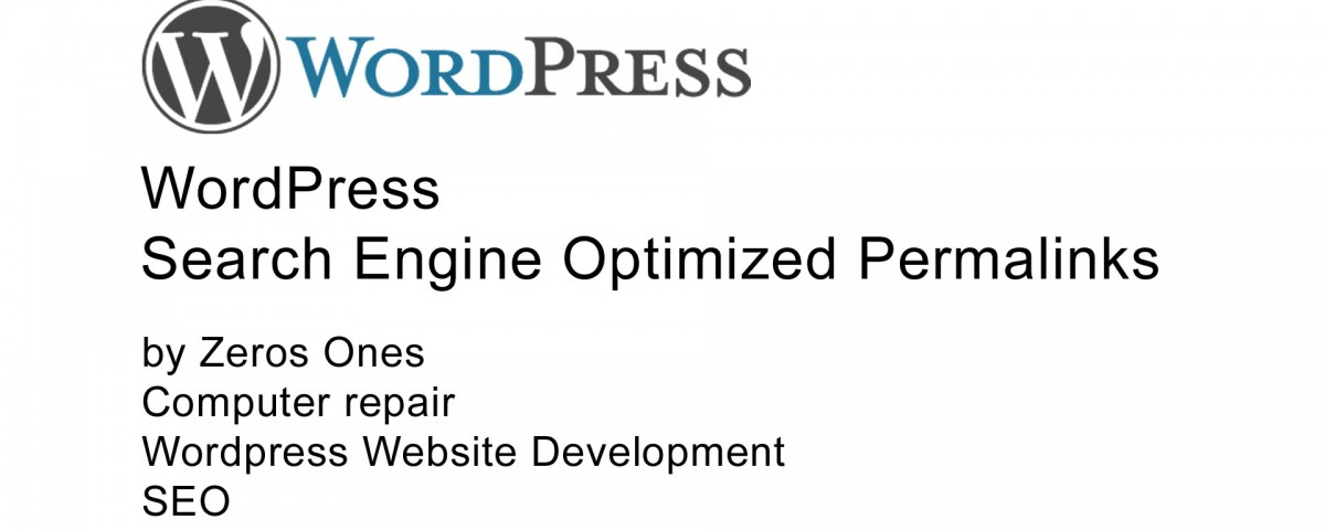 WordPress search engine optimized permalinks