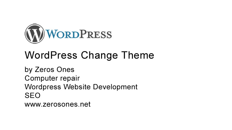 WordPress Change Theme