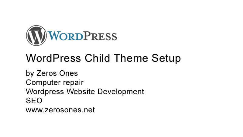 WordPress Child Theme Setup