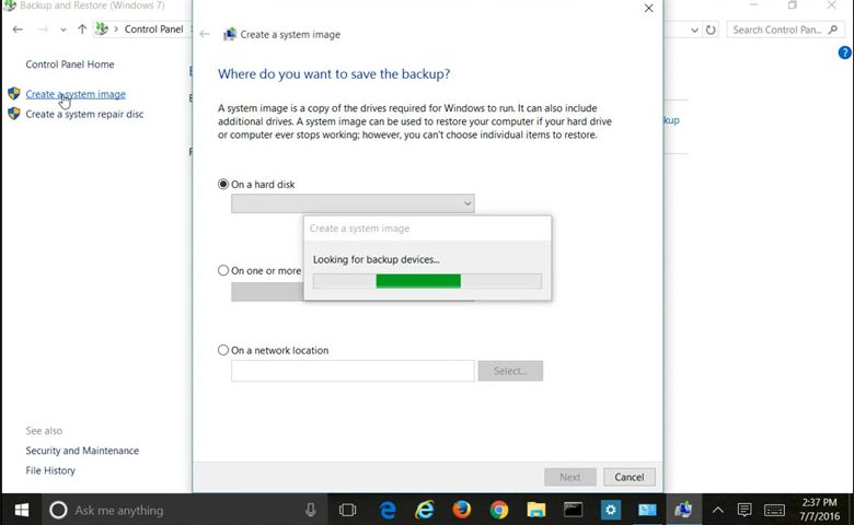 Create Windows 10 System Image