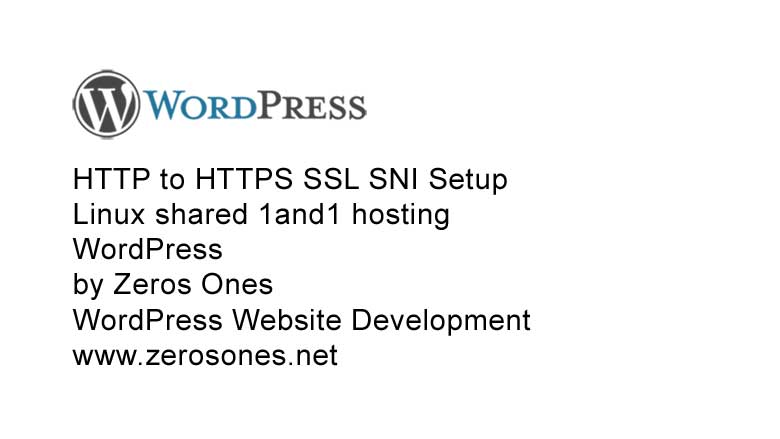 HTTP to HTTPS SSL WordPress shared Linux 1and1 hosting